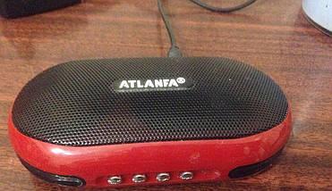 Портативная колонка Радиоприемник Atlanfa AT-6521+усиленный бас+аудио выход для наушников+съемный аккумулятор , фото 3