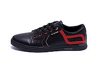 Мужские кожаные кеды  T.Hilfiger Aircross Black (реплика), фото 1