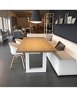 Обеденный стол LNK-LOFT из натурального дерева 1200*600*750