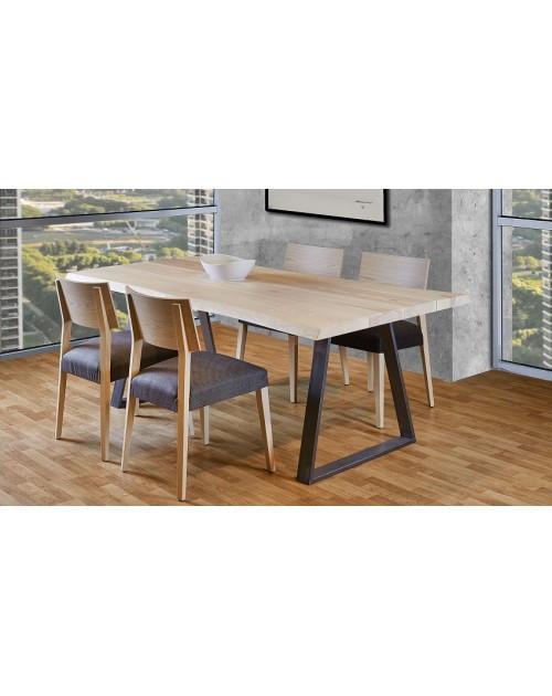 Обеденный стол LNK-LOFT из натурального дерева 1200*600*h750