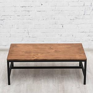 Журнальный/кофейный столик LNK-LOFT из натурального дерева 1000*550*360