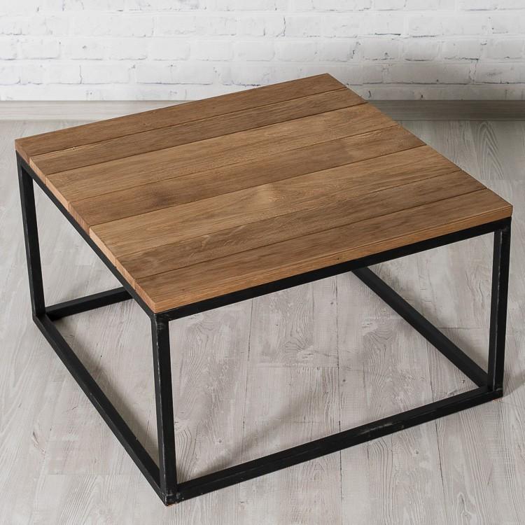 Журнальный/кофейный столик LNK-LOFT из натурального дерева 500*420*500