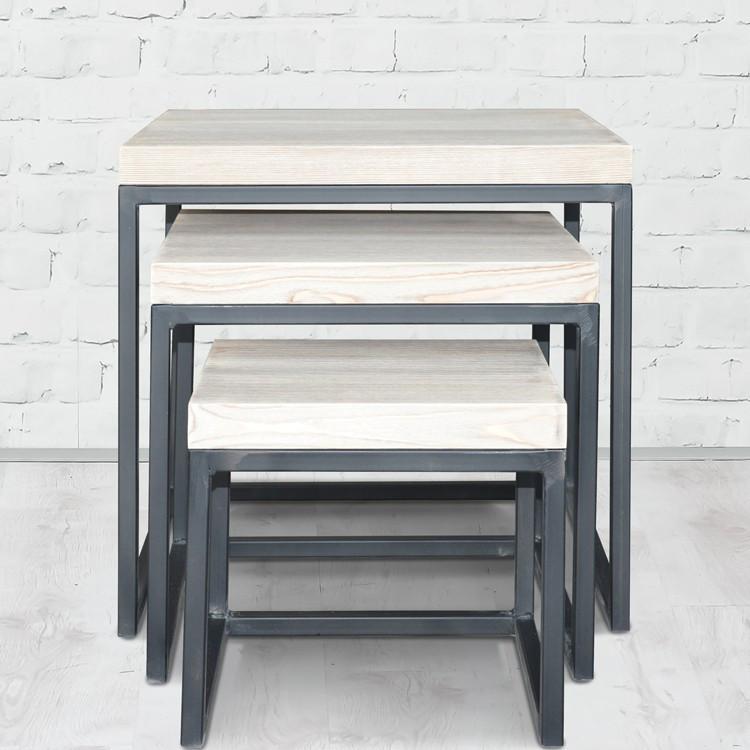 Журнальный/кофейный столик LNK-LOFT из натурального дерева 540*500*500