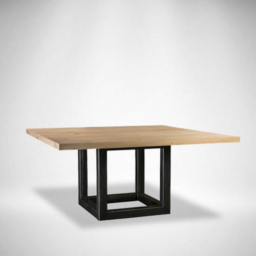 Обеденный стол LNK loft из натурального дерева 1200*1200*750