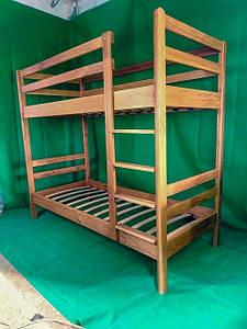 Двухъярусная дубовая кровать LNK Company