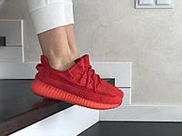 Женские кроссовки красные x Yeezy Boost 8900