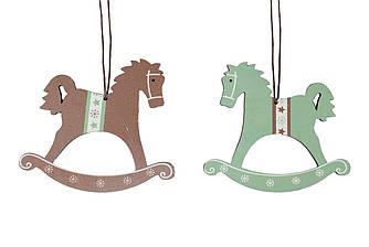 Подвеска новогодняя Лошадки 2шт 24*11*0.5 см