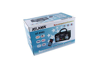 Портативная Переносная Мультимедийная колонка спикер ATLANFA AT-8962 акустическая система+Li-ion аккумулятор  , фото 2