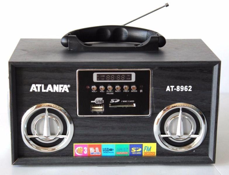 Портативная Переносная Мультимедийная колонка спикер ATLANFA AT-8962 акустическая система+Li-ion аккумулятор