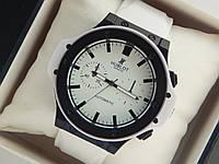 Мужские кварцевые наручные часы Hublot на каучуковом ремешке, фото 1