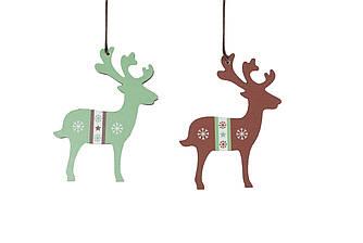 Подвеска новогодняя Лосята (олени)  2шт 26*9*0.5 см