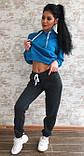 Тёплый костюм спортивный женский без карманов  Ткань - трёхнитка на флисе. И Г, фото 4