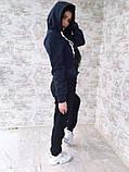 Тёплый костюм спортивный женский без карманов  Ткань - трёхнитка на флисе. И Г, фото 6