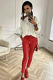 Штаны кожаные со стрелками женские И Г, фото 2