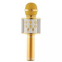 Микрофон-караоке безпроводной WSTER WS-858 Золото