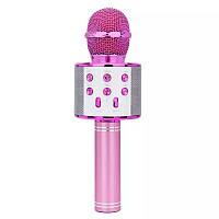 Микрофон-караоке безпроводной WSTER WS-858 Розовый, фото 1