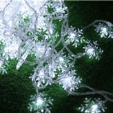 Новогодняя гирлянда снежинки 10 метров белый 100 Leds