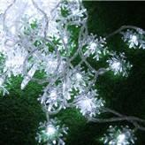 Новогодняя гирлянда снежинки 10 метров белый 100 Leds, фото 1
