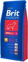 Корм для собак Brit Premium Junior L 3 кг, брит для щенков и юниоров крупных пород собак
