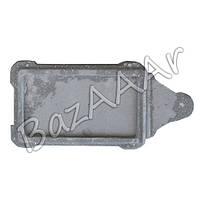 Заслонка печная, чугунная (шибер) 230х125