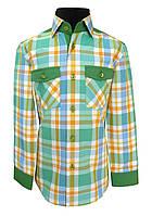 Рубашка детская в яркую клетку №12.2  37006 V1, фото 1