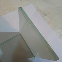 Скло ламіноване тріплекс 4-4-1 матове біле з прирізкою