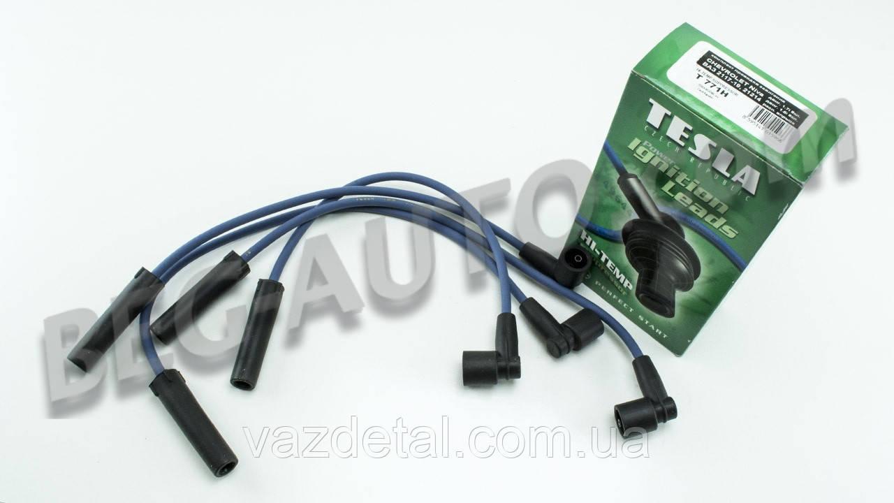 Провода высоковольтные ВАЗ 21214, 2123, 2107 нива тайга шевролет (1.7i) распред. впр.TESLA  Hi-Temp