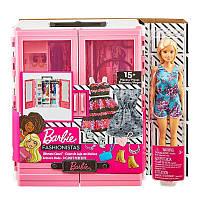 Набор шкаф-чемодан с куклой Barbie и аксессуарами, GBK12