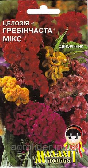 Семена цветов Целозия Гребенчатый микс 0.5г (Малахiт Подiлля)