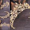 Діадема весільна тіара Лея, прикраси для волосся, фото 3