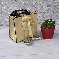 Красивая сумочка из натуральной кожи с бантом.