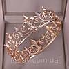 Корона царская мужская церковная БОГЕМИЯ золотая , круглая корона, фото 10