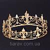 Корона царская мужская церковная БОГЕМИЯ золотая , круглая корона, фото 3