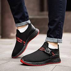 Мужские кроссовки Вегас Фикс (черные с красной подошвой)