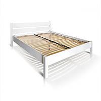 """Ліжко """"РЕЛІНГ"""", бук, білий, фото 1"""