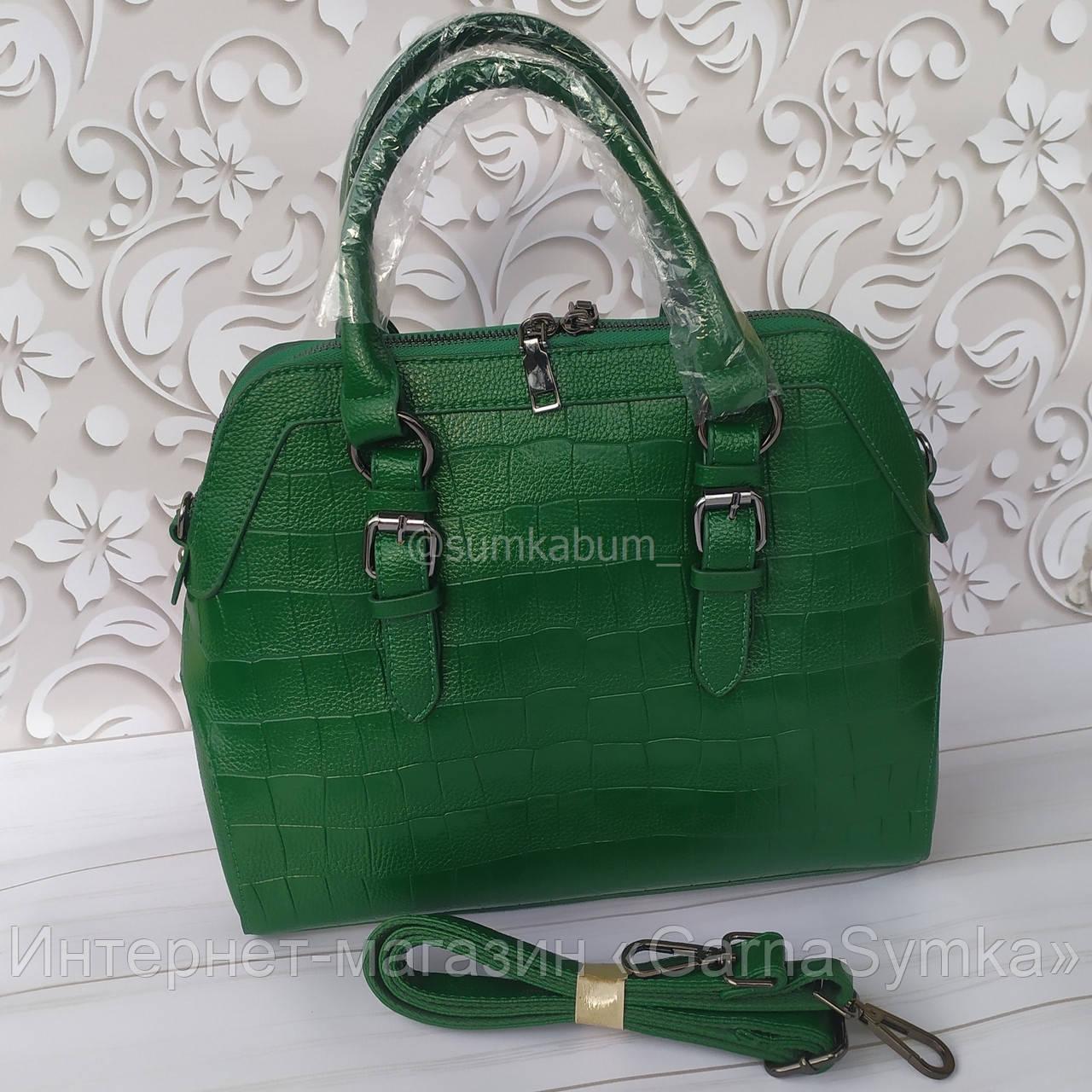 Вместительная кожаная сумка отличного качества