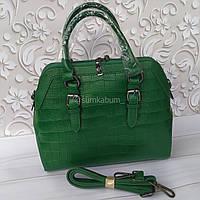 Вместительная кожаная сумочка отличного качества, фото 1