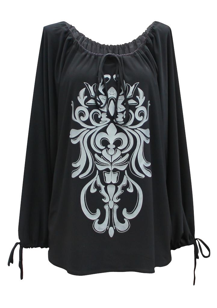 Длинная женская нарядная туника Анжелика - трикотажная вечерняя модель