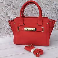 Очень модная сумка в насыщенном красном цвете, фото 1