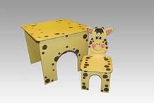 Стол квадратный и стул Жираф (361)