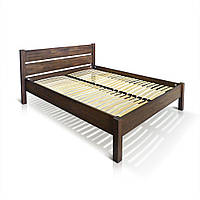 """Ліжко """"РЕЛІНГ"""", бук, коричневий 4, Масловіск, 2000×900"""
