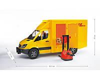 Машинка BRUDER МВ Sprinter курьерская доставка грузов с погрузчиком, М1:16 02534