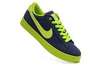 Мужские кроссовки Nike Shox Rivalry сине-зеленые