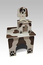 Стол квадратный и стул Пес-Барбос (216)