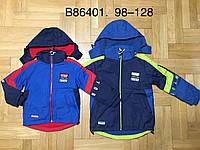Куртки для мальчиков на флисе оптом, GRACE, размеры 98-128, арт. B-86401, фото 1