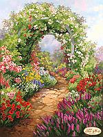 """Схема для вышивки бисером """"Сад в цвету"""""""