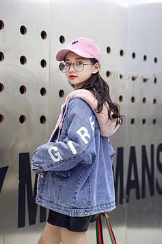 Джинсовая куртка на девочку подростка на меху