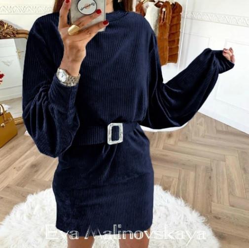 Вельветовое платье Monica