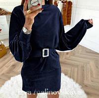 Вельветовое платье Monica, фото 1
