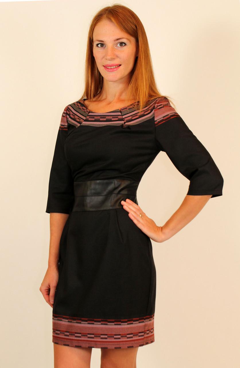 Молодежное стильное платье с кожаным поясом 42-48 р